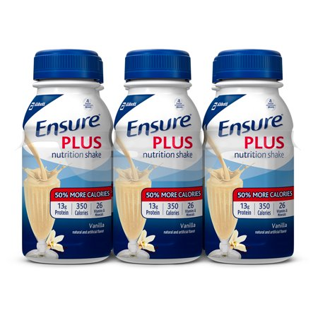 Ensure Plus Nutrition Shake with 13 grams of high-quality protein, Meal Replacement Shakes, Vanilla, 8 fl oz, 6