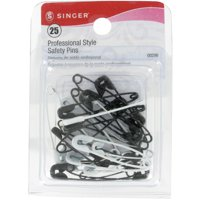 Singer Professional Style Safety Pins-Sizes 1 & 2 25/Pkg