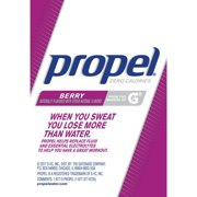 (12 Pack) Propel Powder Packets Berry With Electrolytes, Vitamins and No Sugar, 10 Ct