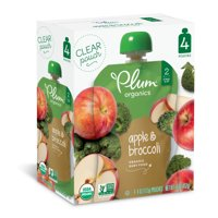 Plum Organics Stage 2 Apple & Broccoli, 4oz (Pack of 4)