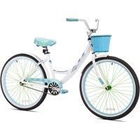"Kent 26"" Women's, La Jolla Cruiser Bike, White"