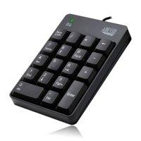 Adesso USB Spill Resistant 18-Key Numeric Keypad