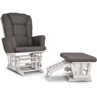 Graco Sterling Semi-Upholstered Glider and Nursing Ottoman, Choose Your Finish