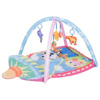Qaba Kids Baby Toddler Play Gym Activity Center Creeping Mat - Farm Animals