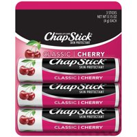 (3 pack) ChapStick Classic Flavored Lip Balm, Cherry, 3 Count