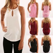 57c86e6741545 Women Summer Vest Tops Sleeveless Shirt Blouse Casual Tank Tops T-Shirts Halter  Neck Sun
