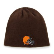 new concept 544c6 1c6e9 Cleveland Browns Brown Throwback Cuffless Knit Beanie Hat Cap