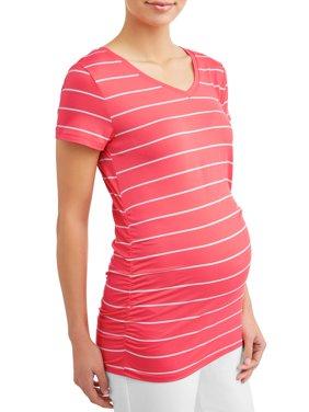 Maternity Short-Sleeve Stripe Tee