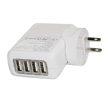 EpicDealz Universal 4 Port Wall USB Travel Home to AC Power Adapter 2.1 Amp Charger For Blackberry Curve 8330 (Boost Mobile, Metro PCS, Sprint, Verizon, U.S.Cellular, Alltel) - White