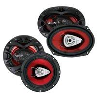"NEW BOSS CH6530 6.5"" 300W + 6x9"" CH6920 350W Car Coaxial Speakers Audio Package"