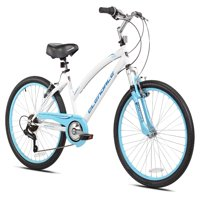 "Kent 24"" Girls', Glendale Bike, White/Blue, For Ages 12 and Up"