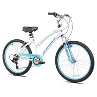 "Kent 24"" Girls', Glendale Bike, White/Blue, For Ages 12-16"