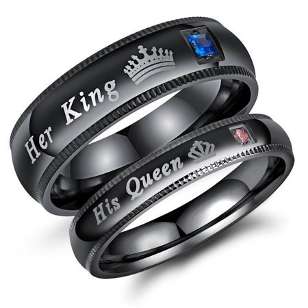 Comfort Fit Milgrain Edge (Couple's Matching Promise Ring