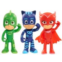 PJ Masks Articulated Figures 3pk, includes Catboy, Owlette & Gekko
