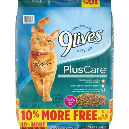 9Lives Plus Care Dry Cat Food Bonus Bag,