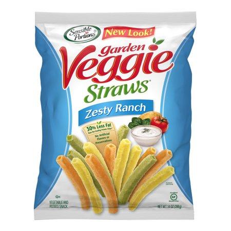 Sensible Portions Zesty Ranch Garden Veggie Straws, 14 Ounce Bag