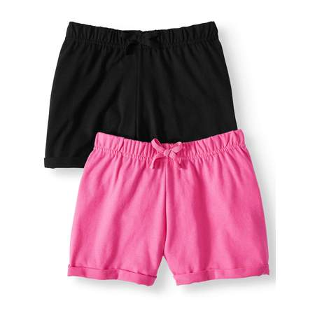 Casual Knit Shorts, 2-pack (Little Girls & Big Girls) - Wholesale Womens Shorts
