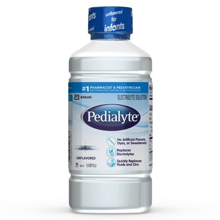 (2 pack) Pedialyte Electrolyte Solution, Hydration Drink, Unflavored, 1 Liter ()