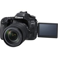Canon Black EOS 80D Digital SLR Camera with 24.2 Megapixels and 18-135mm Lens Included