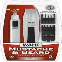 Wahl Mustache & Beard Battery Trimmer Kit with Bonus Nose Trimmer 1 ea (Pack of 4)