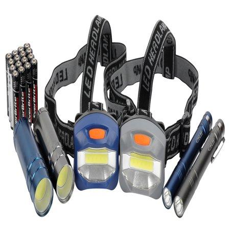 Youth Headlamp - Ozark Trail 6-Piece Led Flashlight and Penlight and Headlamp Combo