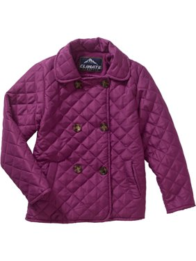 Climate Concepts Girls' Double Breasted Quilted Coat