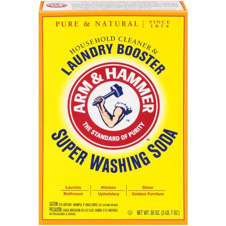 Arm & Hammer Super Washing Soda Detergent Booster & Household Cleaner, 55oz. Arm & Hammer Soda