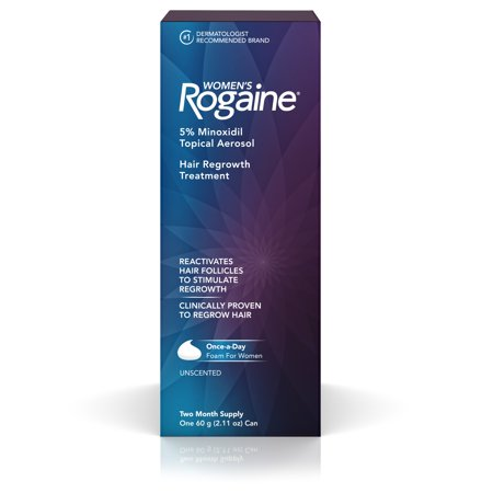 Women's Rogaine 5% Minoxidil Foam for Hair Regrowth, 2-Month