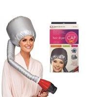 Portable Hair Blow Dryer Cap Treatment Hood Soft Bonnet Attachment