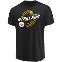 Men's Majestic Black Pittsburgh Steelers Pigskin Classic T-Shirt