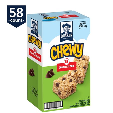 Chip Granola Bar (Quaker Chewy Granola Bars, Chocolate Chip, 58)