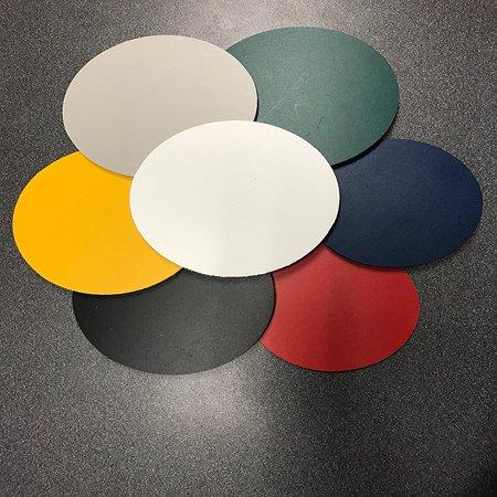 2 Pack - Black PVC Foam Sintra Circle 1/4