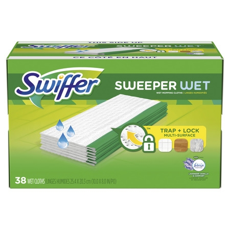 Multi Web (Swiffer Sweeper, Wet Mopping Pad Multi Surface Refills for Floor Mop, Lavender & Vanilla Comfort, 38 count)
