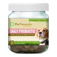 Pet Naturals of Vermont Daily Probiotic for Dogs, Digestive Health Supplement, 70 Bite-Sized Chews