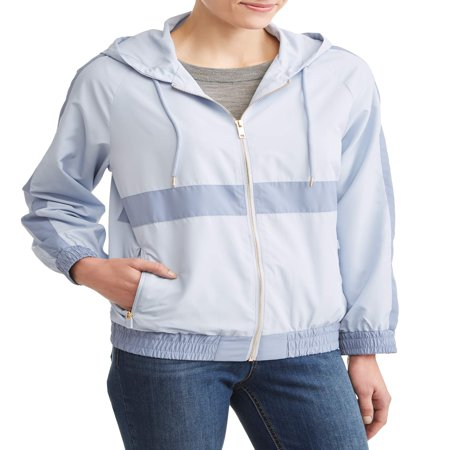 Women's Windbreaker Jacket with Gold Zipper Detail](Ringmaster Jacket For Women)