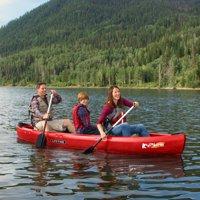 Lifetime 13' Kodiak Canoe, Red with 2 Bonus Canoe Paddles, 60658