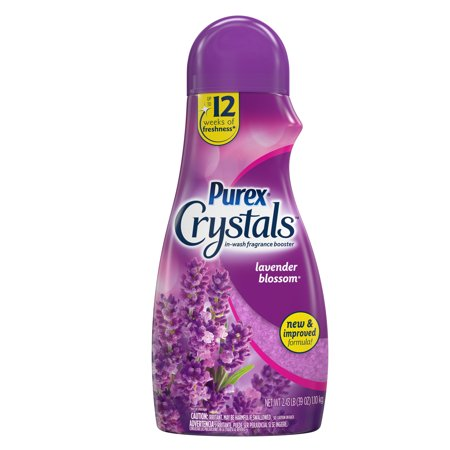 Scented Salt Crystals - Purex Crystals In-Wash Fragrance and Scent Booster, Lavender Blossom, 39 Ounce
