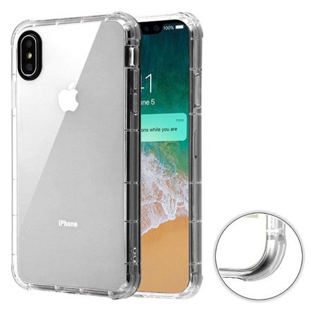 Apple iPhone Xs Max (6.5 Inch) - Phone Case Clear Shockproof Hybrid Armor Rubber Silicone Gel Cover Transparent Clear Phone Case for Apple iPhone Xs Max - Iphone Gel Case
