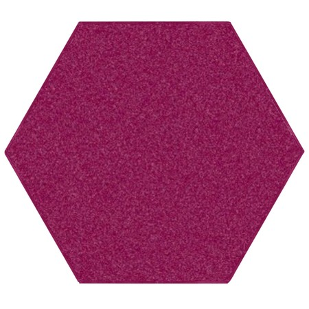 Saturn Collection Solid Color Cranberry 9' Hexagon - Area (Recipe For Cranberry Orange Relish With Nuts)