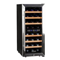 """Koldfront TWR247E 14"""" Wide 24 Bottle Wine Cooler with Dual Cooling Zones"""