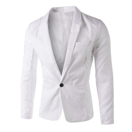 Naked Men In Suits (Charm Men's Casual Slim Fit One Button Suit Blazer Coat Jacket Tops Men)