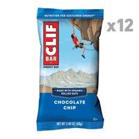 CLIF Bar, Chocolate Chip, 2.4 Oz, 12 Ct Energy Bars