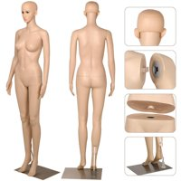 Yaheetech Female Plastic Dress Form Mannequin Full Body with Metal Base, 68.9""