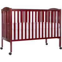 Dream On Me 2-in-1 Folding Full-Size Crib Cherry