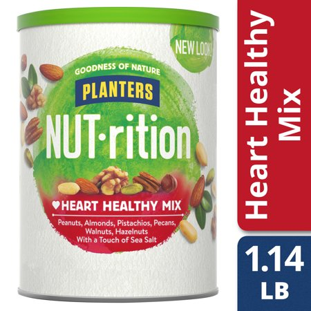 Planters NUT-rition Heart Healthy Mix with Walnuts and Hazelnuts, 18.25 oz Can (Walnut Toffee)