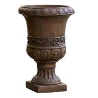 Noble House Roman Turkish 26-inch Urn Planter, Brown