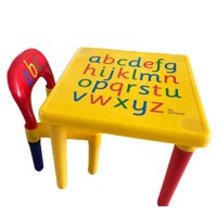 Ktaxon ABC Alphabet Childrens Plastic Table and Chair Set - Kids Toddlers Childs - Gift
