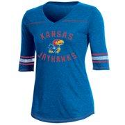 best cheap eb3f7 58494 Women s Russell Royal Kansas Jayhawks Fan Half-Sleeve V-Neck T-Shirt
