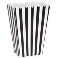 Popcorn Boxes, 5 x 3.75 in, Black & White, 8ct