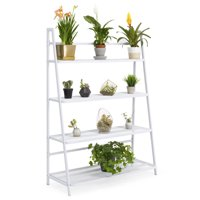 Best Choice Products Mesh Flower Pot Stand Shelving (White)
